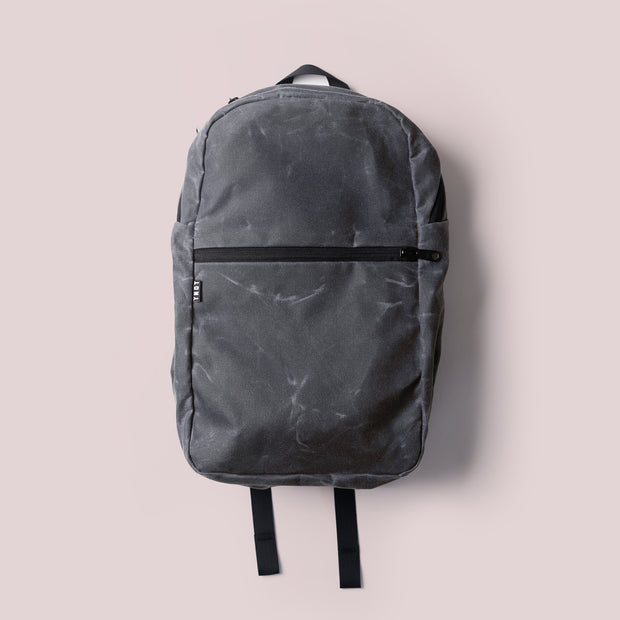 YNOT - Deploy Waxed Backpack - Charcoal Waxed Canvas