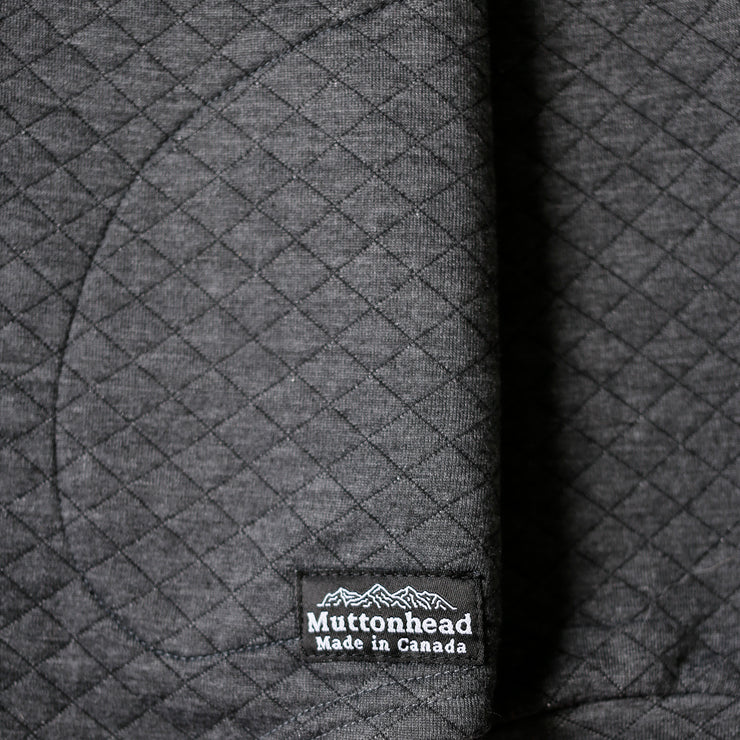 Camping Hoodie - Charcoal Quilt