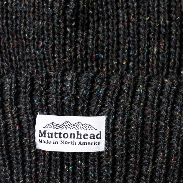Speckled Chunky Toque - Black