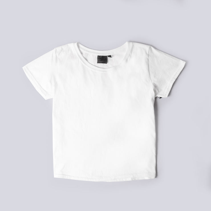 Women's Circular Knit Tshirt - Ringspun Cotton - White