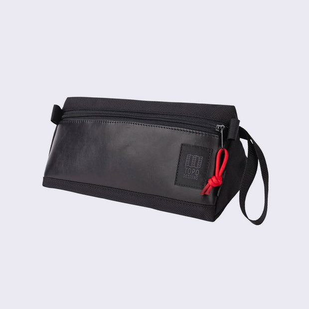 Topo Dopp Kit - Ballistic Black/Black Leather