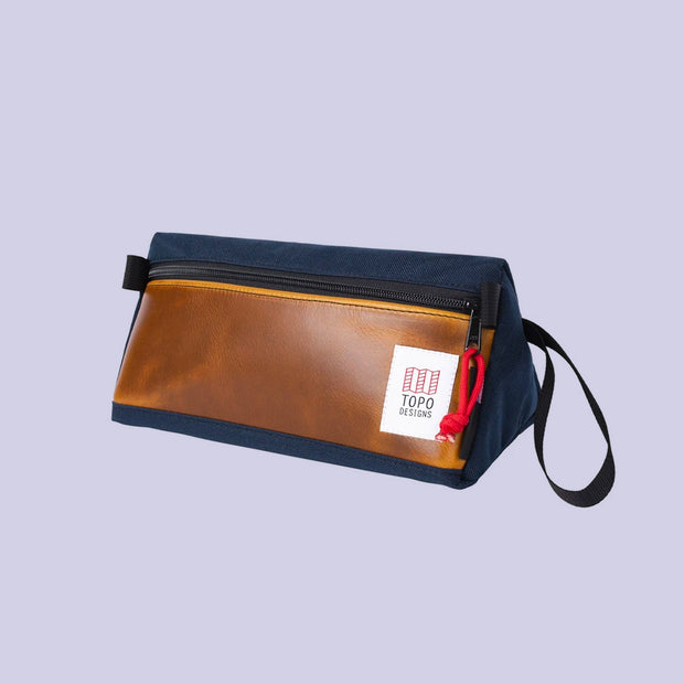 Topo Dopp Kit - Navy/Brown Leather
