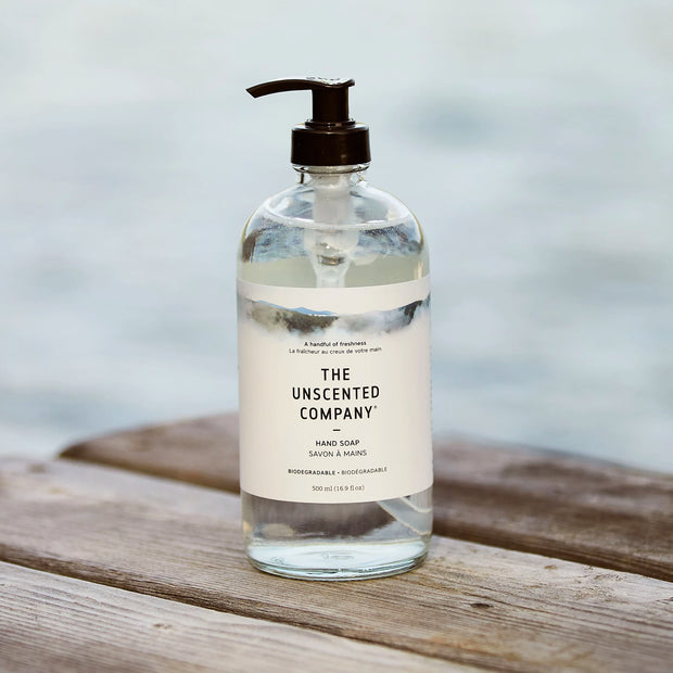 Unscented Glass Bottle Hand Soap