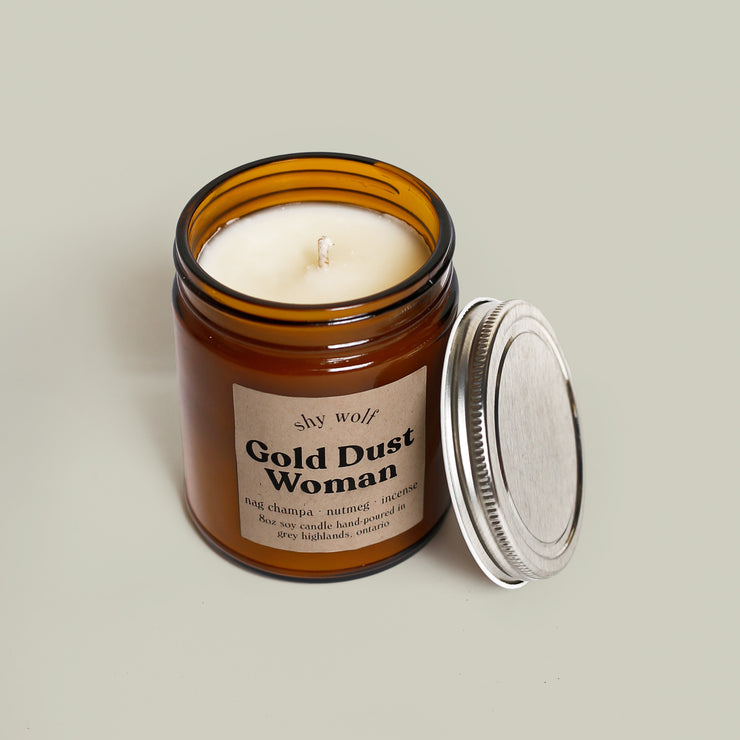 Shy Wolf Candles - Gold Dust Woman