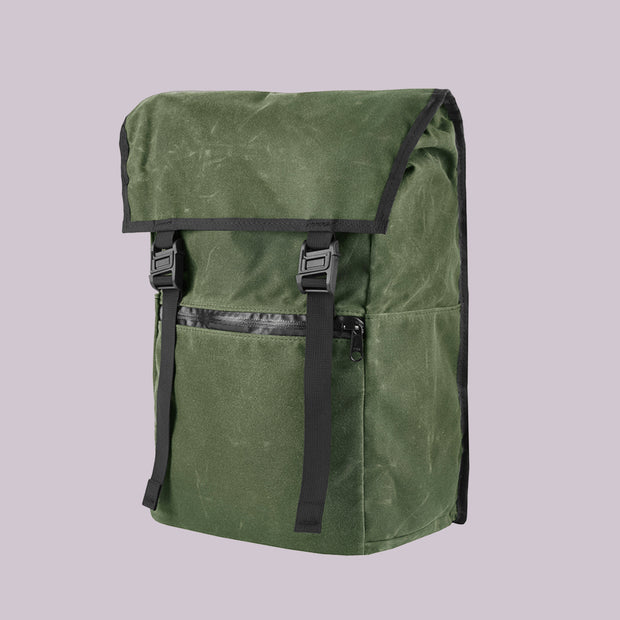 YNOT - Magnetica Backpack - Olive Waxed Canvas