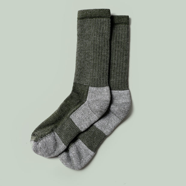 Merino Mountain Hiking Socks - Olive