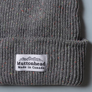 Cotton Knit Toque - Heather Grey Neon Speckle