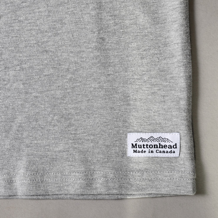 Heavy Weight Tee - Heather Grey