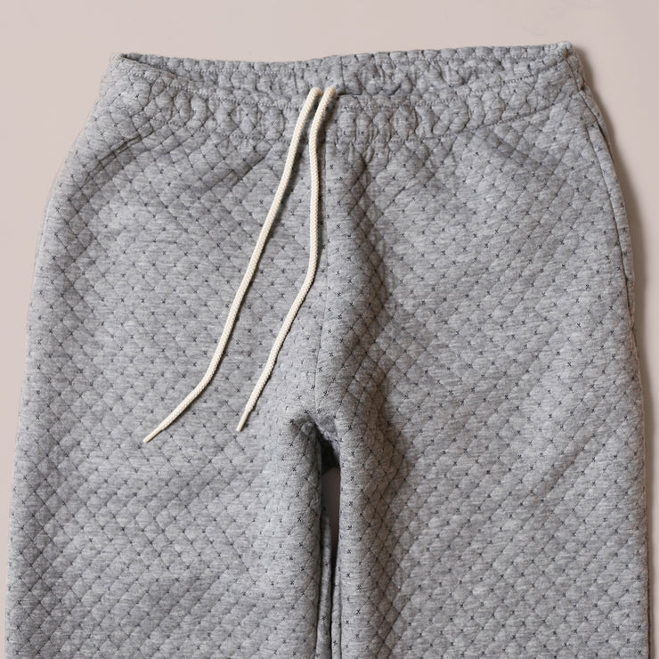 Sweatpants - Cross Stitch Quilt Grey