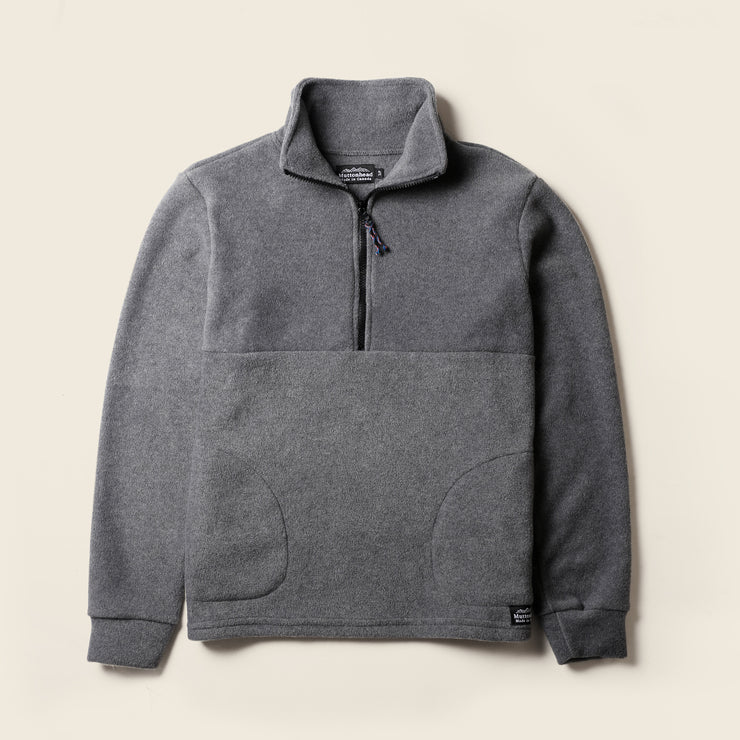 Alpine 1/4 Zip  - Heather Grey Polar Fleece