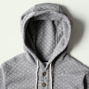 Camping Hoodie - Heather Grey Quilt