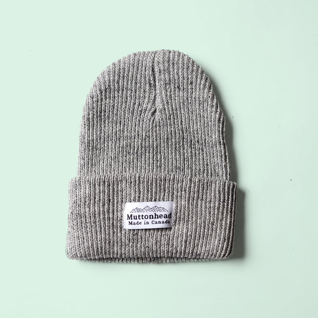 Cotton Knit Toque - Storm Grey