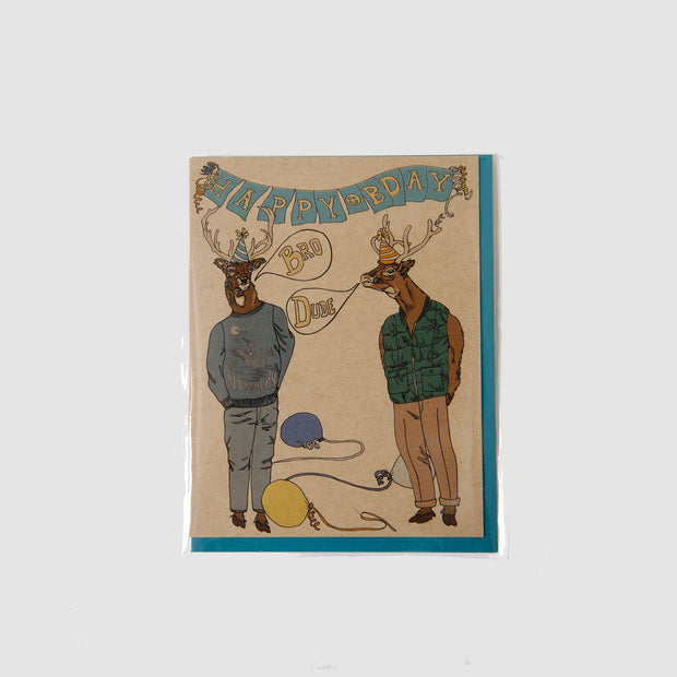 Happy Bday Deer Card - Wild Life Illustration and Card Co.