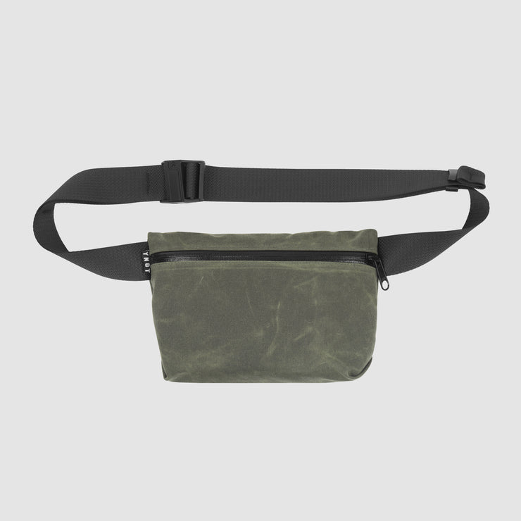 YNOT Hip Pack - Olive Waxed Canvas