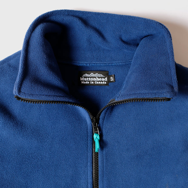 Field Zip  - Indigo Recycled Fleece
