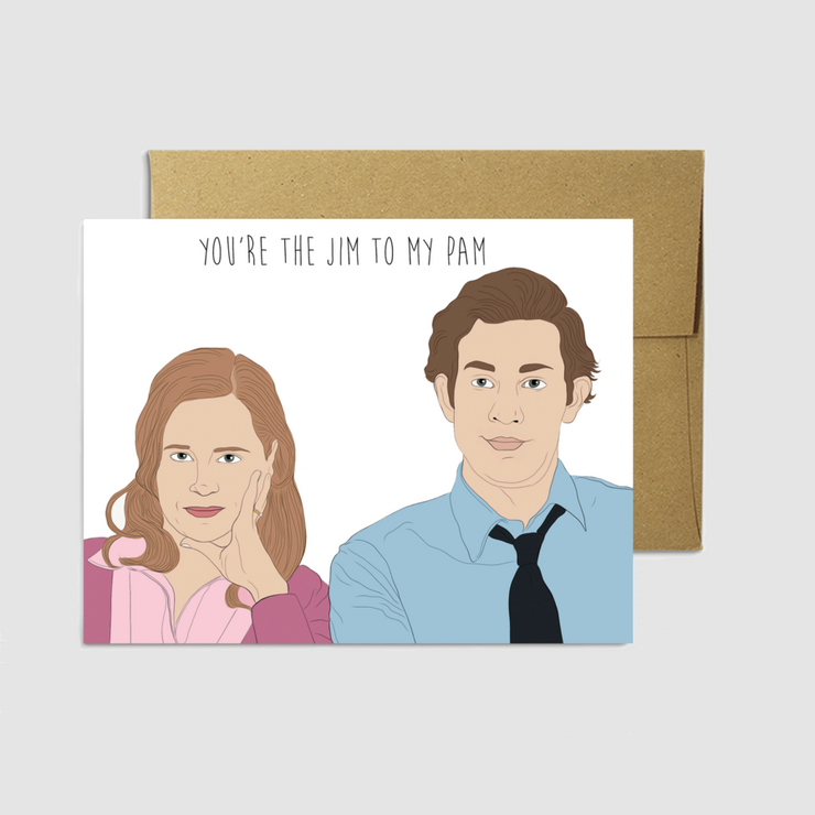 Jim to my Pam Card - Party Mountain Paper Co.