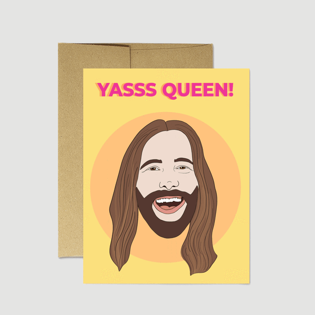 "JVN ""Yas Queen"" Card - Party Mountain Paper Co."