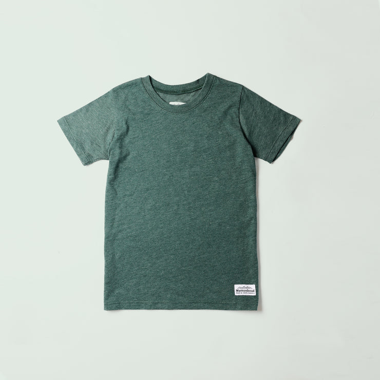 Kids Recycled Tee - Heather Green