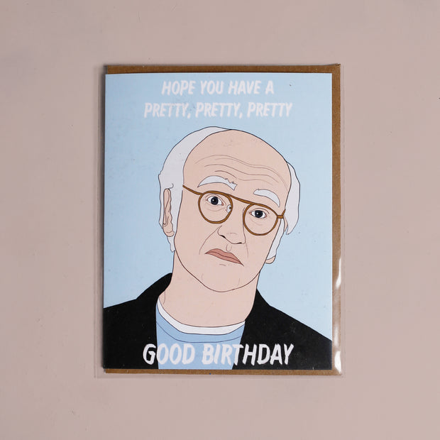 Larry David Birthday Card - Party Mountain Paper Co.