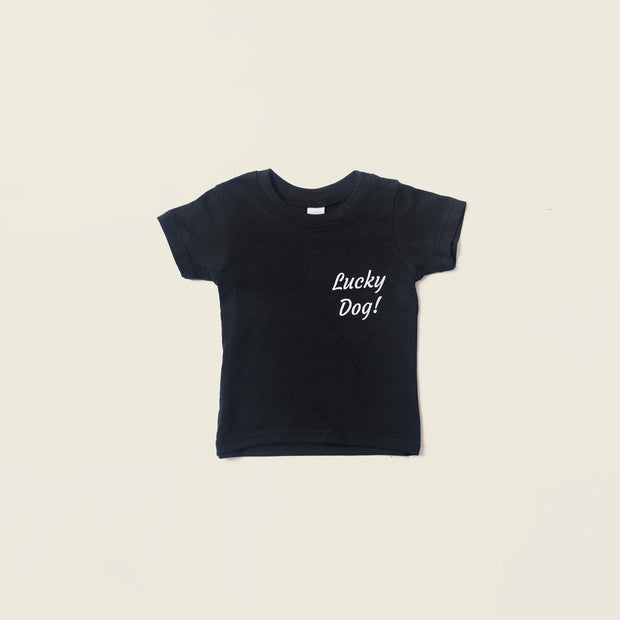 Baby Recycled Tee - Lucky Dog - Black