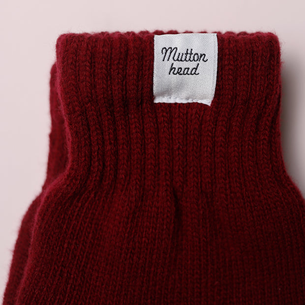 Fingerless Gloves - Maroon