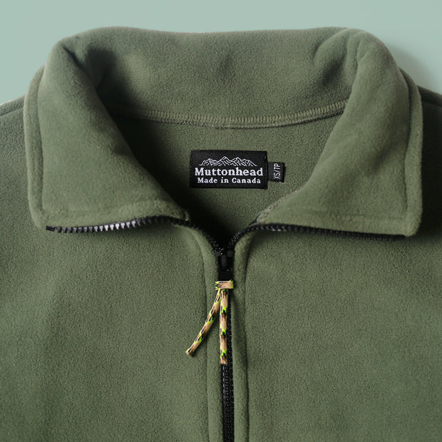 Field Zip  - Moss Recycled Fleece