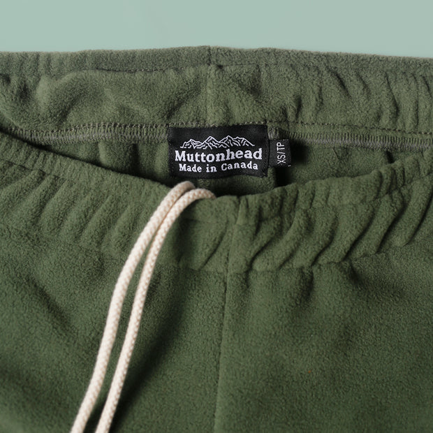Sweatpants - Recycled Fleece Moss