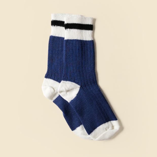 Mountain Socks - Navy Black Stripe