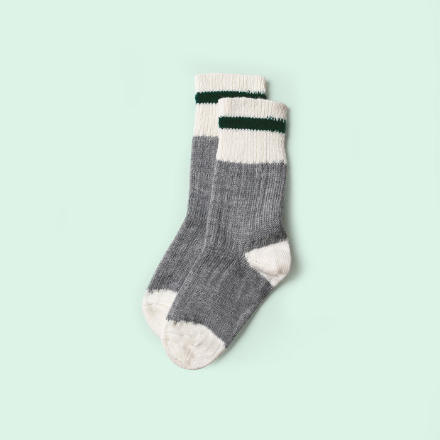 Kids Mountain Socks  - Hunter Stripe
