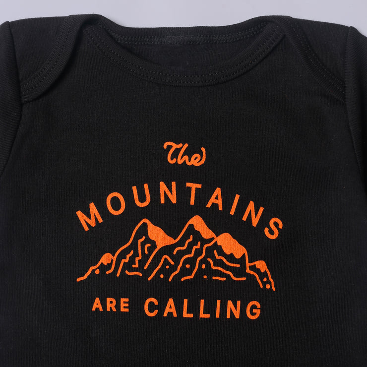 The Mountains Are Calling Onesie - Black