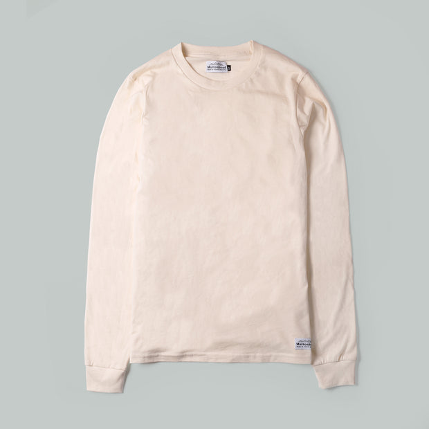 Longsleeve Tee - Natural Organic Cotton