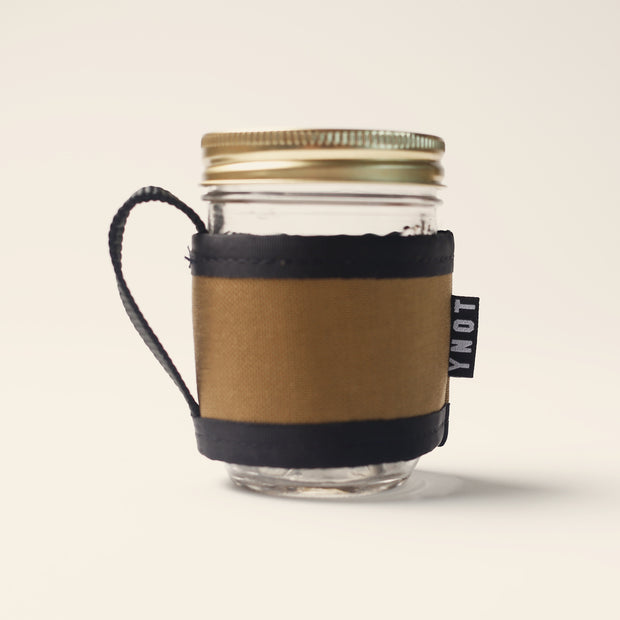 YNOT - Coffee Cozy & Mason Jar - Oak Waxed Canvas