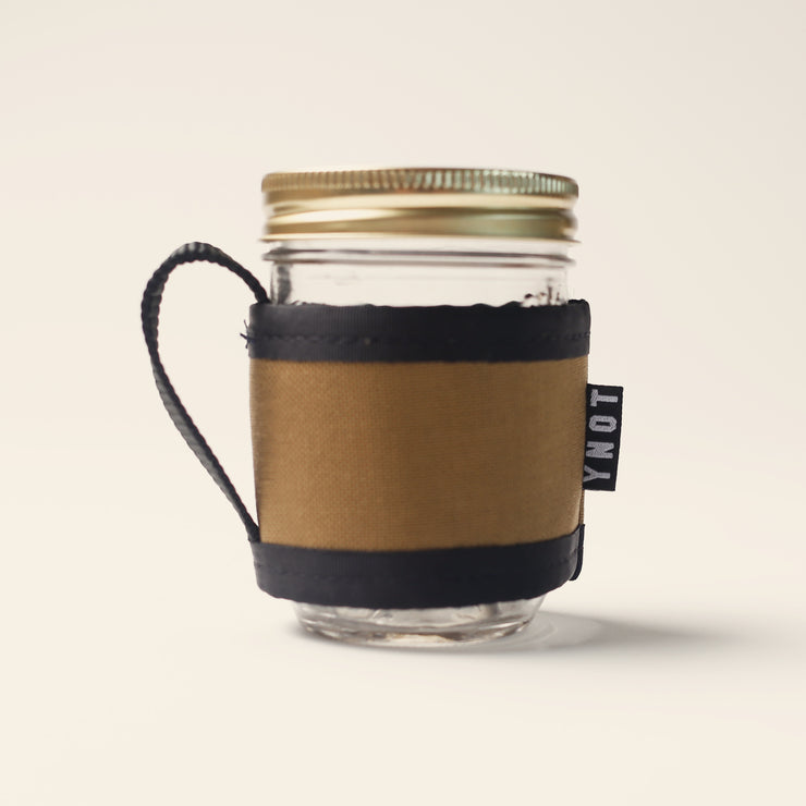 YNOT Coffee Cozy & Mason Jar - Coyote