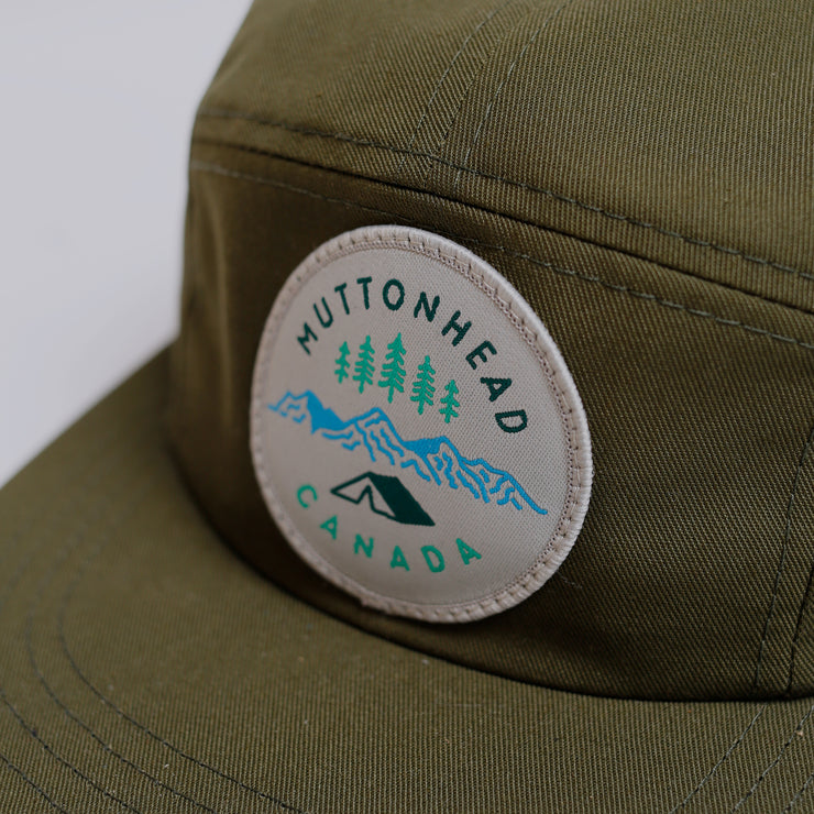 5 Panel - Camp Patch - Olive Organic Cotton