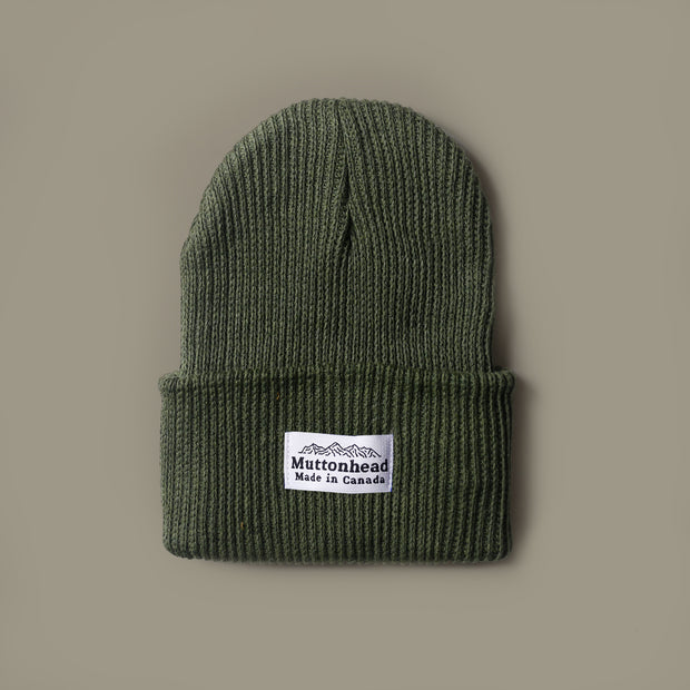 Cotton Knit Toque - Olive
