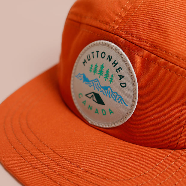 5 Panel - Camp Patch - Burnt Orange Organic Cotton
