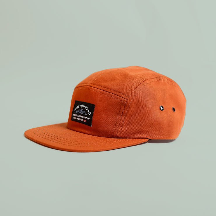 5 Panel - Mountain Patch - Burnt Orange Organic Cotton