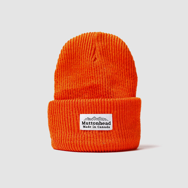 Cotton Knit Toque - Orange