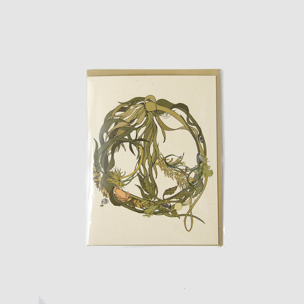 Kelp Peace Wreath Card - Wild Life Illustration and Card Co.