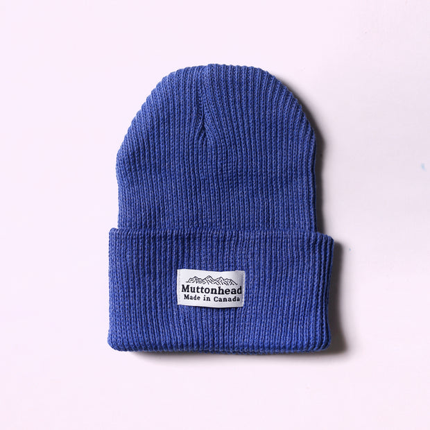 Cotton Knit Toque - Periwinkle