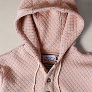 Camping Hoodie - Cross Stitch Quilt Pink