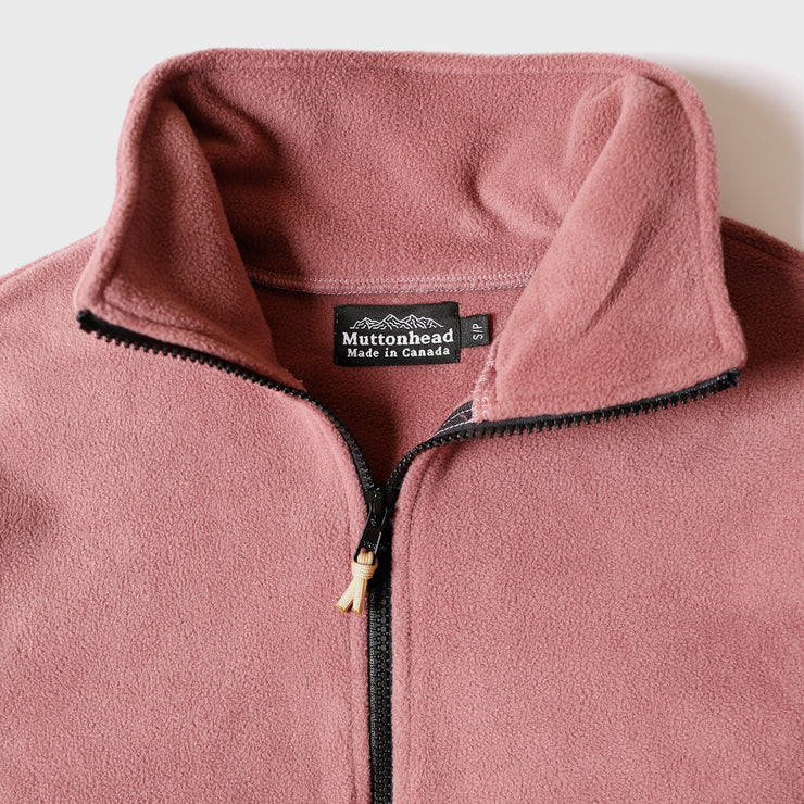 Field Zip  - Blush Recycled Fleece