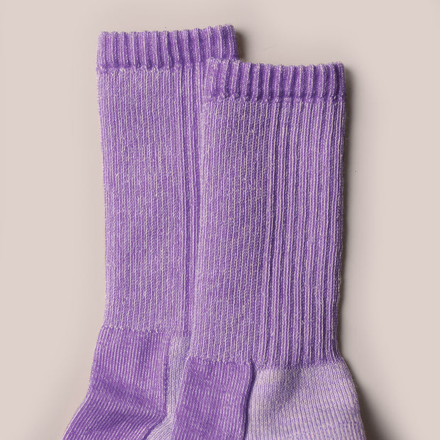 Merino Mountain Hiking Socks - Purple Marl