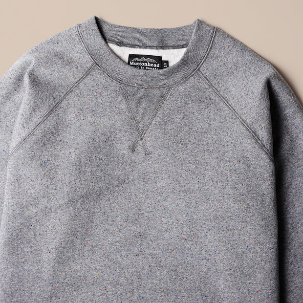 Classic Crew - Heather Grey Rainbow Speckle