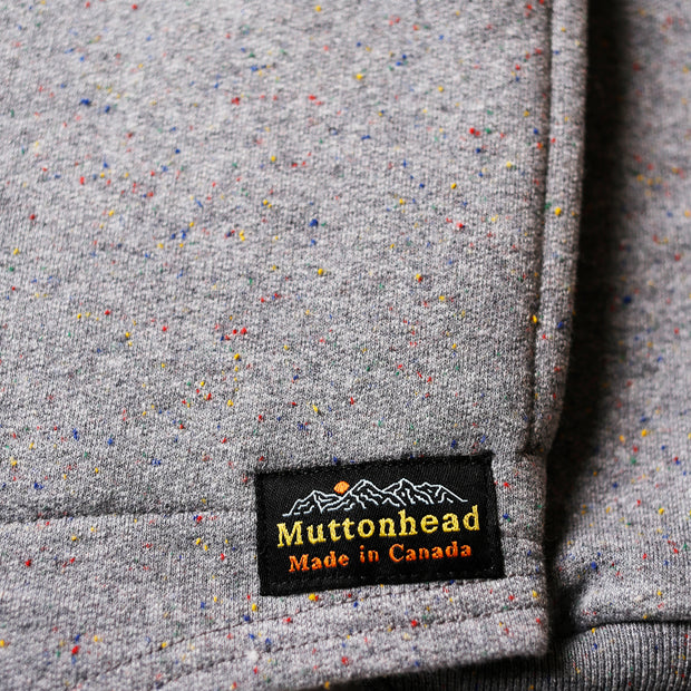 Camping Hoodie - Heather Grey Rainbow Speckle