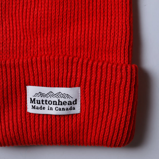 Cotton Knit Toque - Red
