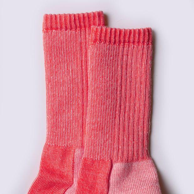 Merino Mountain Hiking Socks - Red Marl