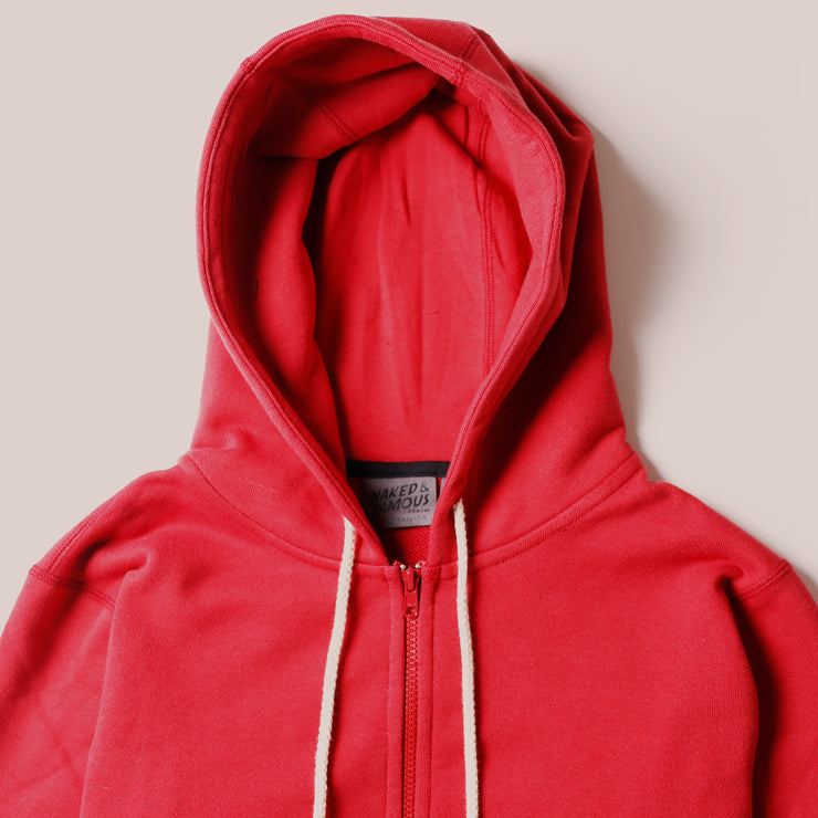 Zip Hoodie - Heavyweight Terry - Red