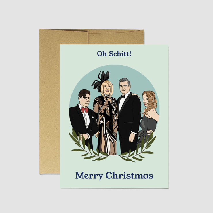 Oh Schitt Christmas Card - Party Mountain Paper Co.