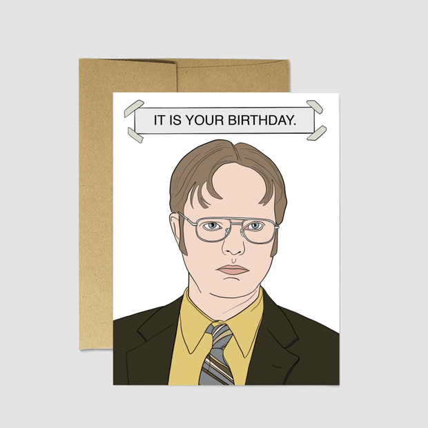 Dwight Birthday Card - Party Mountain Paper Co.